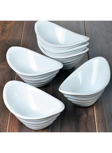 Keramika Keramika Beyaz Gondol Çerezlik 16 Cm 6 Adet Renkli